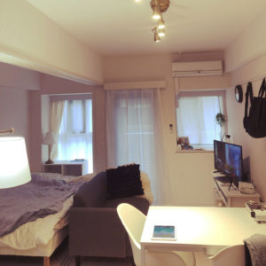 一人暮らしの2Kの部屋、仕切り解放後